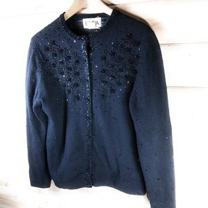 Elna Sweaters - Elna Vintage Beaded Sweater